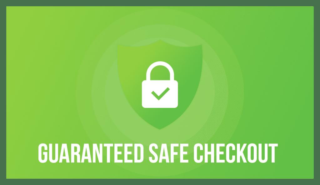 Guaranteed Safe & Secure checkout badge