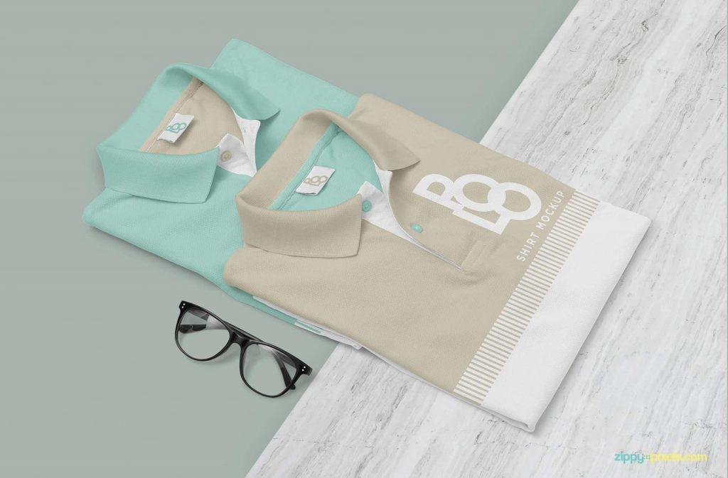 Minimalist Polo Shirt Design Mockup