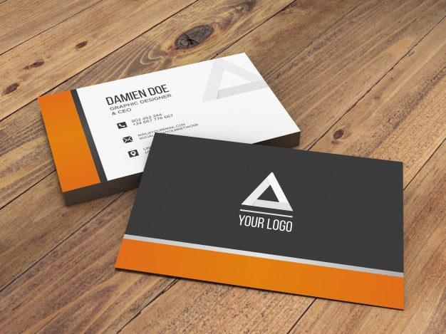 Mockup of a Business Card with a Varnish Finish
