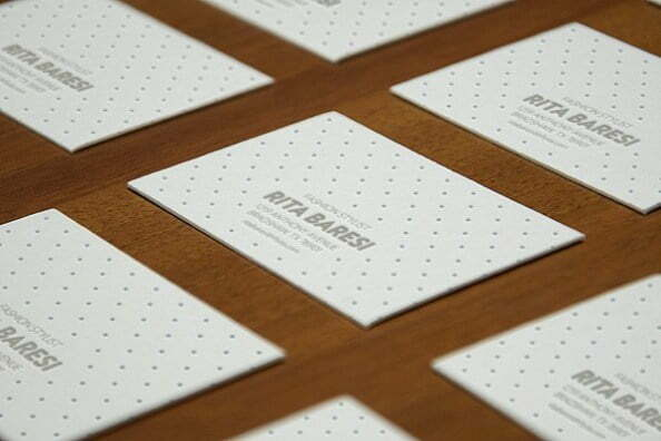 Mockup of a Collection of Business Cards