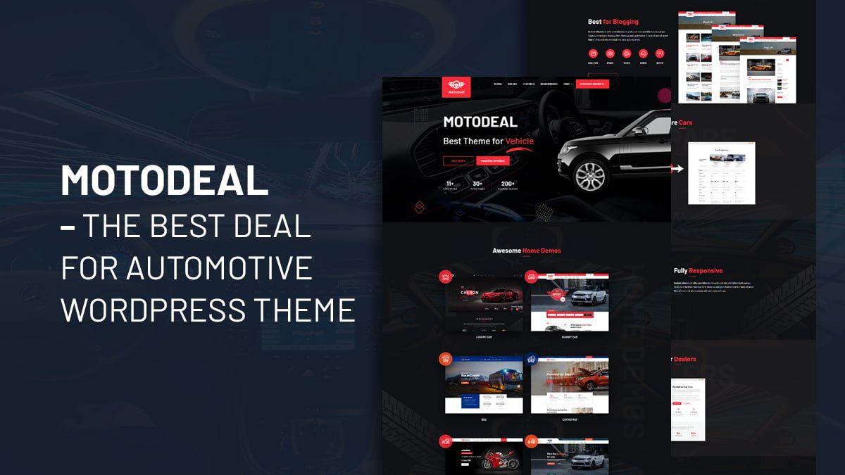Motodeal – The Auto trader WordPress themeBest Deal for Automotive WordPress Theme