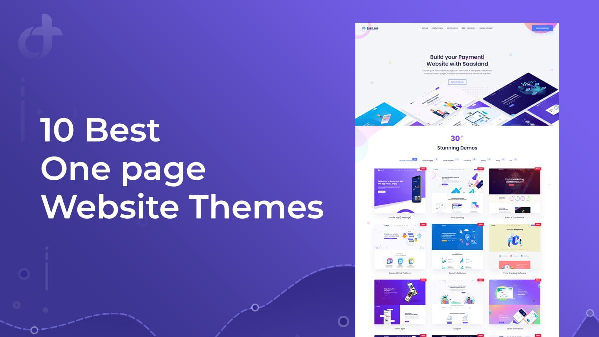 One Page Website Themes