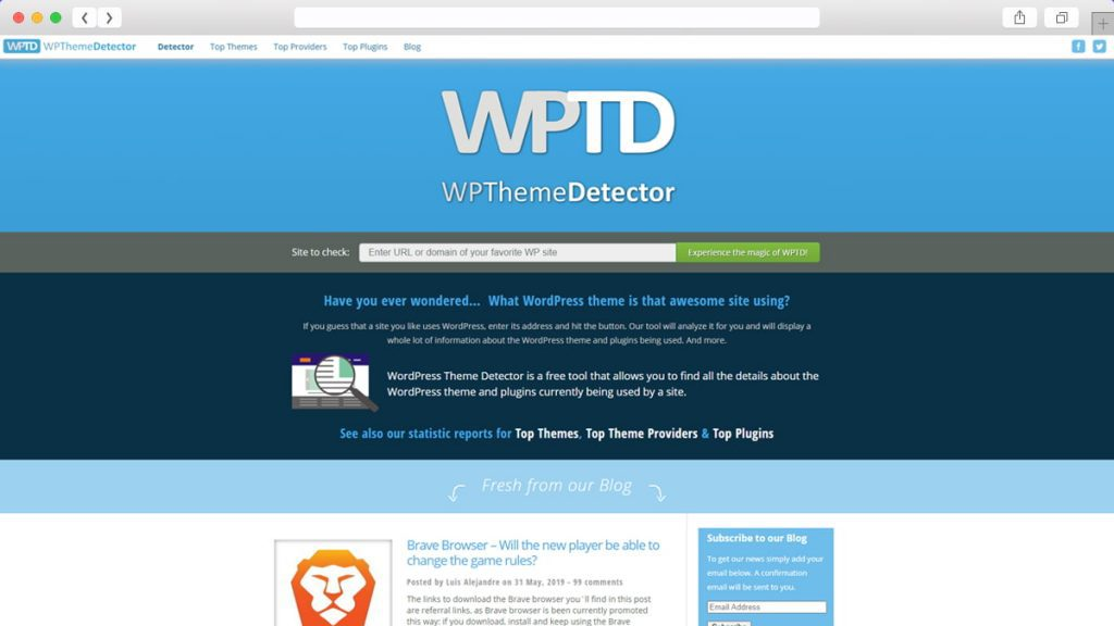 WordPress Theme Detector