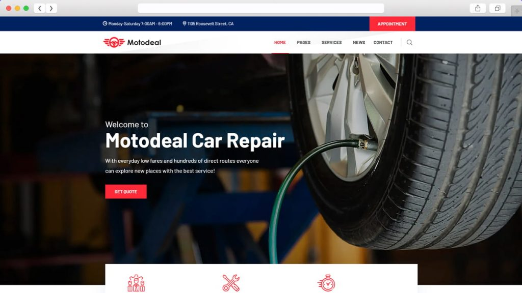 car repair demo of Motodeal