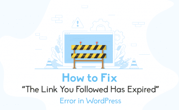 how to fix expired link