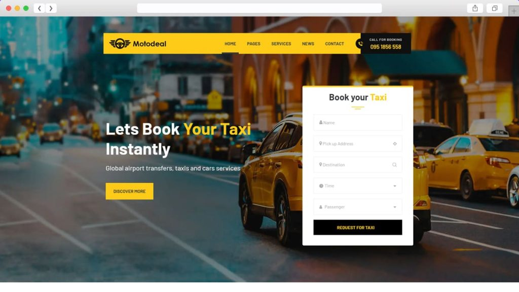 taxi service demo of Motodeal