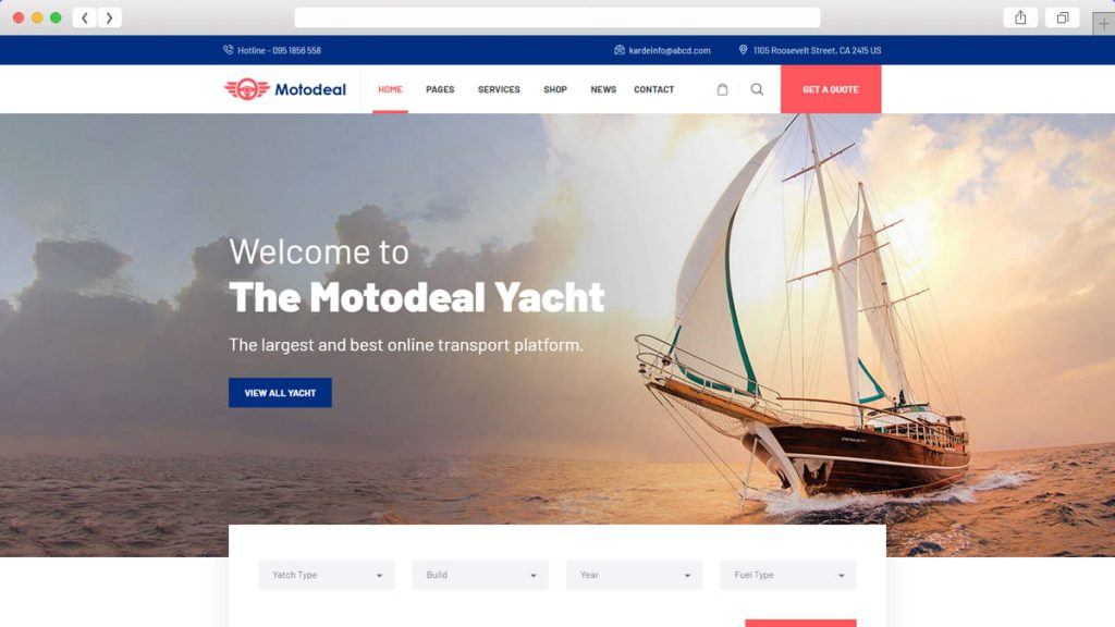 yatch and boat demo of Motodeal