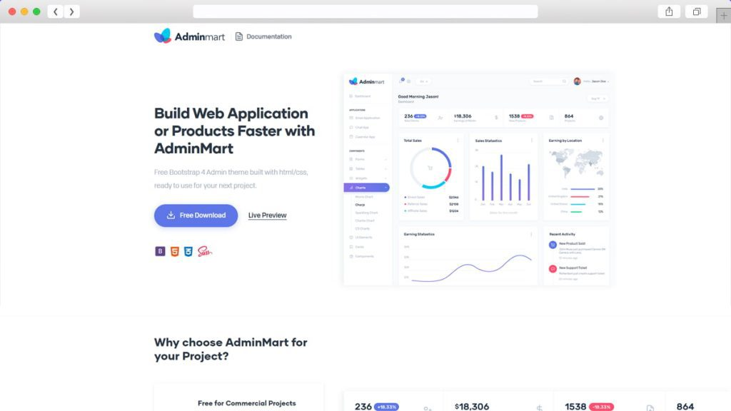 Adminmart bootstrap admin