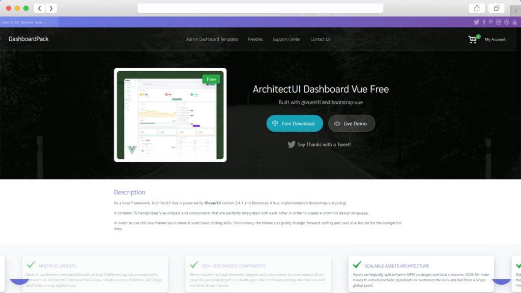 ArchitectUI VueJS Bootstrap Dashboard