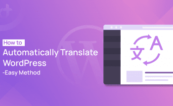 Automatically Translate in WordPress