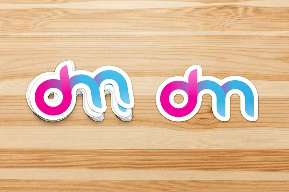 Creative Sticker Mockup