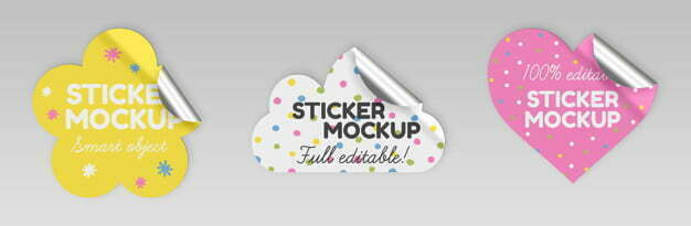 Cute Sticker Mockups