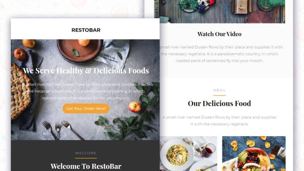 Restaurant Newsletter Email