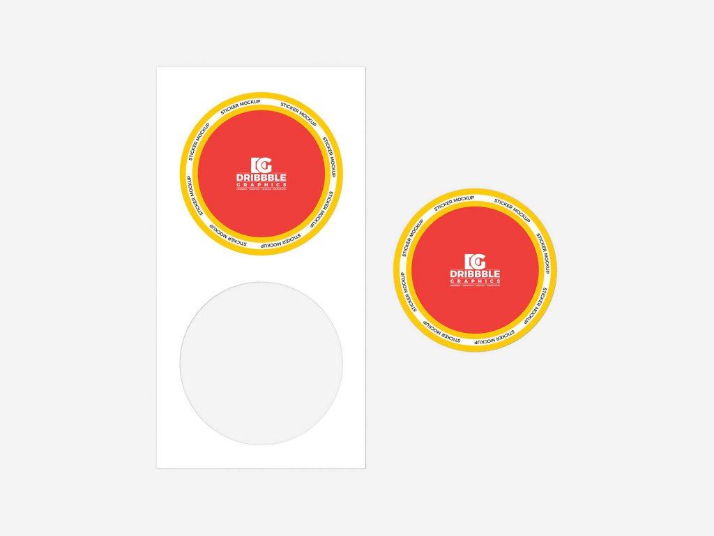 Two Sticker Mockup