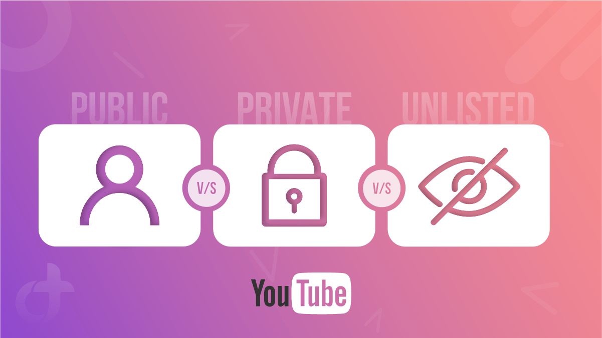 YouTube Public vs Private vs Unlisted Video