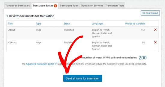 translation basket