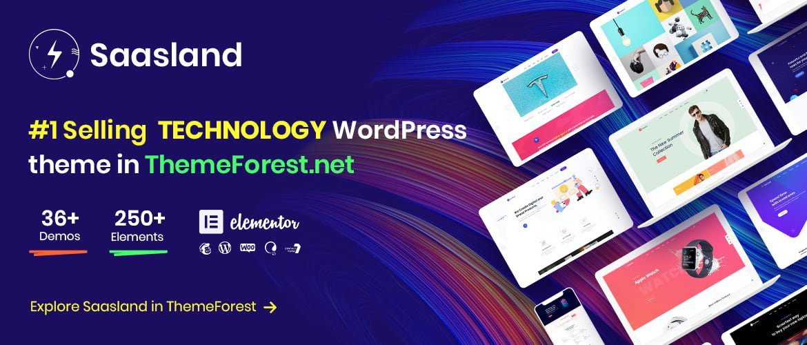Explore Saasland in ThemeForest