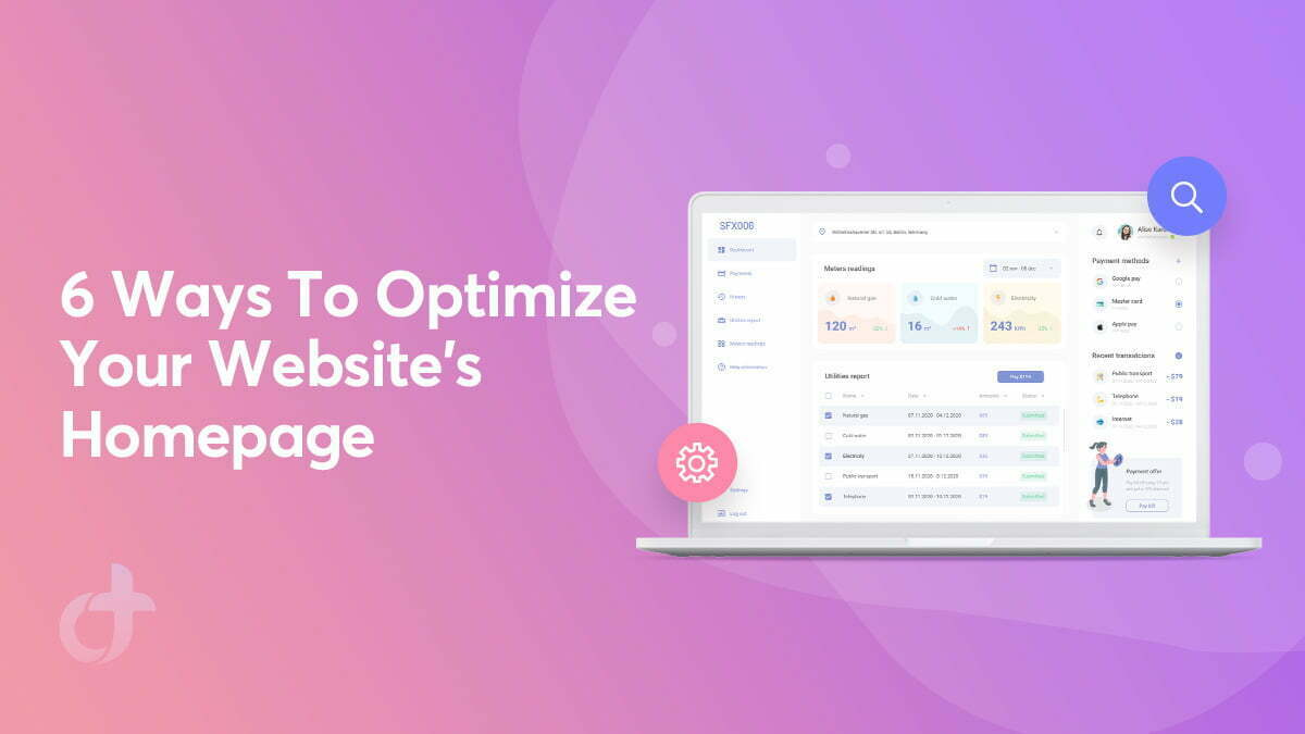 6 Ways to Optimize Your Website's Homepage