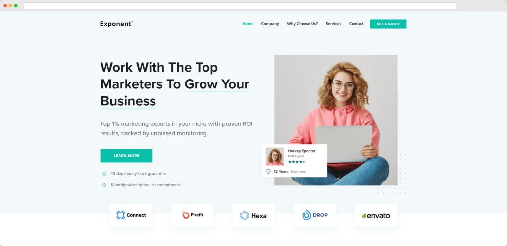 Exponent - WP Theme for Digital Agency