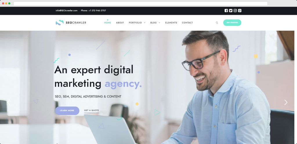 SEO Crawler – WordPress Digital Marketing Theme