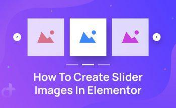 Create Slider Images In Elementor