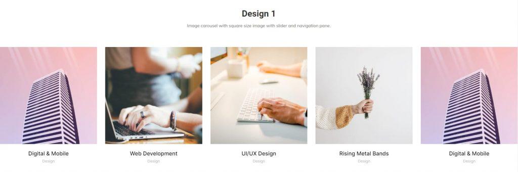 Image carousels design 1