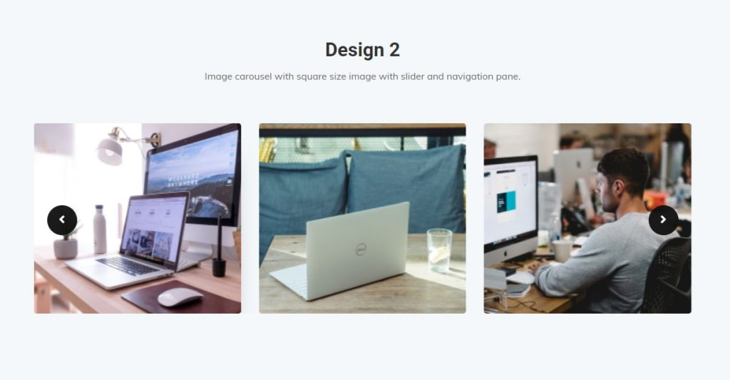 Image carousels design 2
