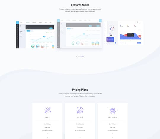 sassy HTML Template