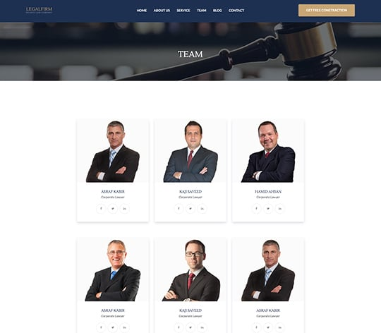 Legal Firm Html Template