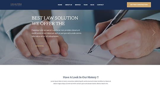 Legal Firm Wordpress Theme