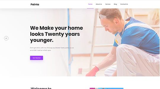 Painta - Painting Company WordPress Theme