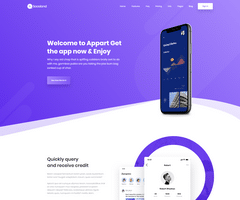 Mobile App (Onepage) Demo